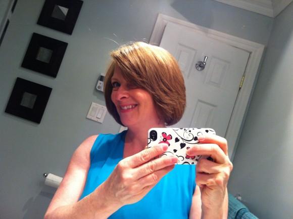 Mon selfie 2013 et mes cheveux qui allongent!