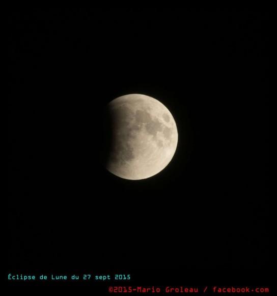 Eclipse 27 sept 2015 Mario Groleau