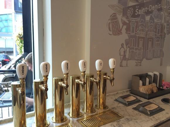 robinets bar laitier