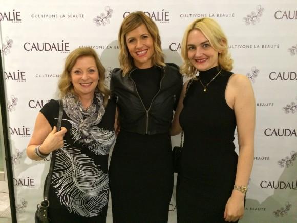 Lors de l'inauguration de la Boutique Spa Caudalie avec Ima et ma copine blogueuse Julie Lafrance.