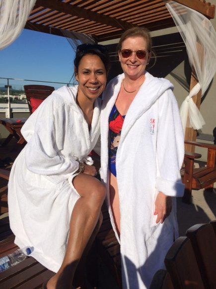 Avec Isabelle Racicot porte-parole du SkySpa