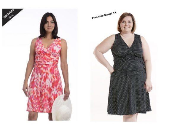 La robe Calas, offerte en deux imprimés