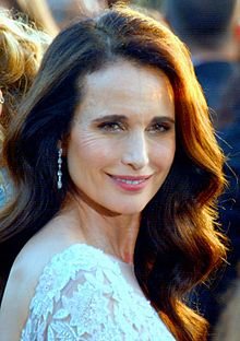 Andie McDowell. Photo source : Wikipedia